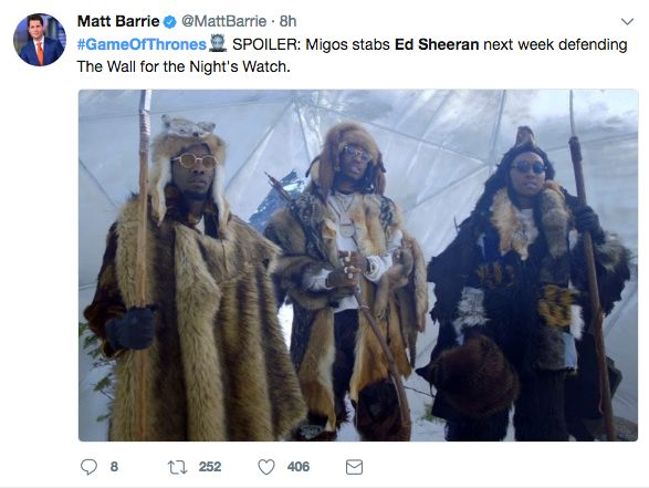 Twitter Reacts To Ed Sheeran's Game Of Thrones Appearance (7 pics)