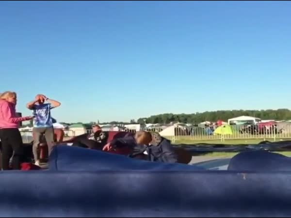 Idiot Almost Breaks His Neck During Chair Stunt