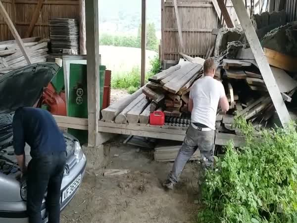 Chainsaw Prank Gone Wrong