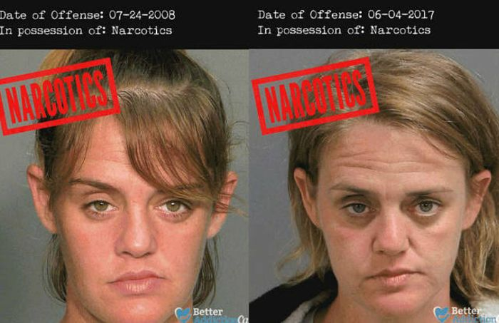 Horrifying Mugshots Show How Hard Drugs Affect The Human Body (7 pics)