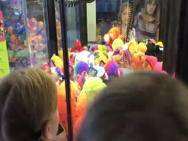 Little Girl Winning Toy For Brother
