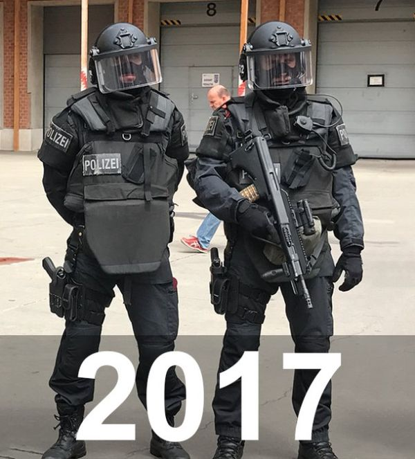 Police Back In The Day And Today (2 pics)