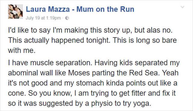 Mom Embarrasses Herself Big Time In Yoga Class (14 pics)