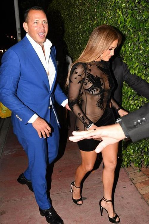 Jennifer Lopez Wears Sexy See Through Outfit To Her Own Birthday Party (6 pics)