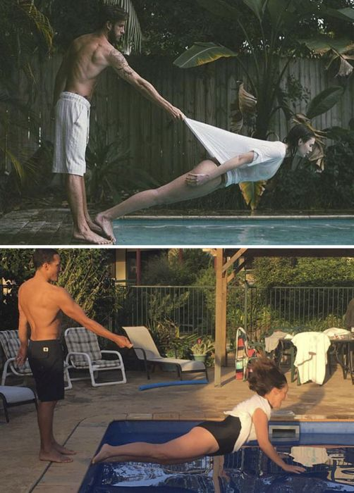 Woman Continues To Recreate Celebrity Instagram Pics And It's Hilarious (20 pics)