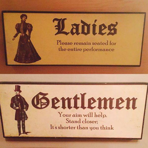 Creative Bathroom Signs That Tell You What's Up (25 pics)