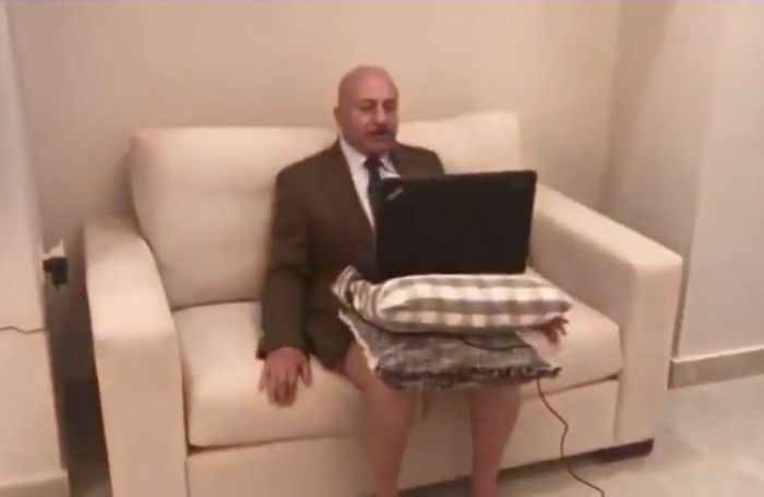 Political Scientist Goes On Al-Jazeera Without Pants (2 pics)