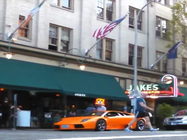 Expensive Lamborghini Gets The Old BMX Treatment