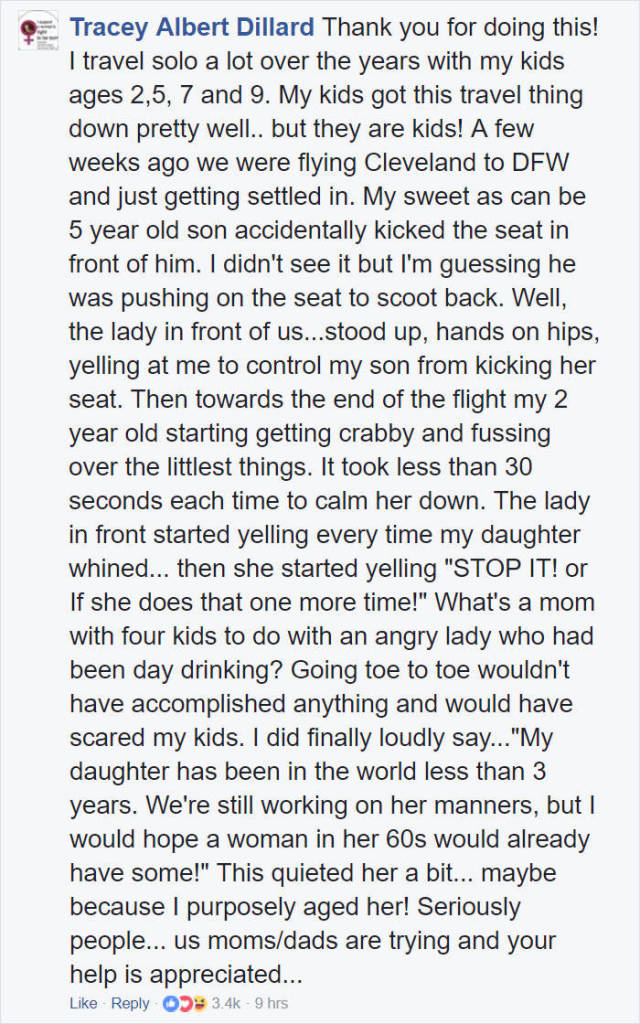 Woman Shows Compassion For Fellow Mother On A Plane (16 pics)