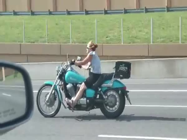 Motorcycle Chick On Ice