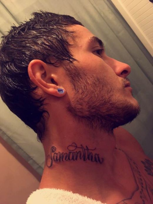 Guy Gets His Girl's Name Tattooed On His Neck After 4 Months of Dating (9 pics)