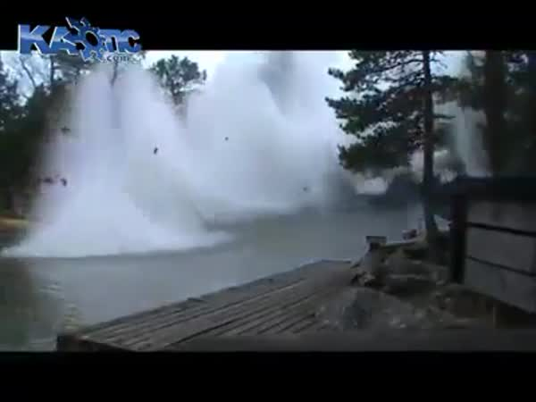 Lightning Hits A River! What A Sight