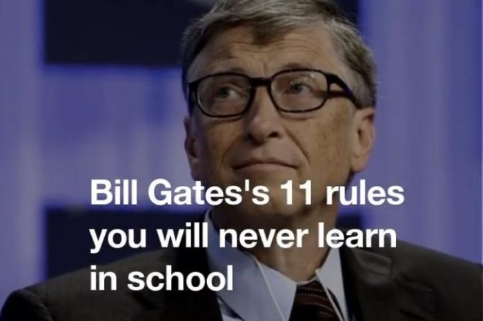 Bill Gates Shares 11 Things They Won't Teach You In School (12 pics)