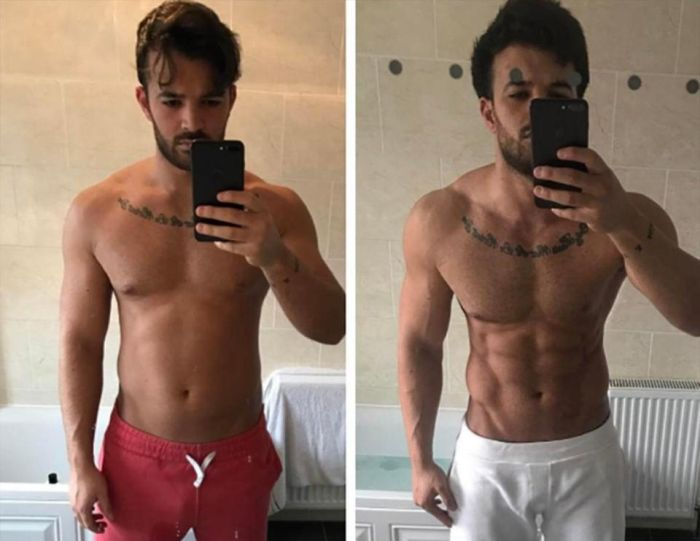 Towie's Mike Hassini Shows Off His Insane Body Transformation (4 pics)