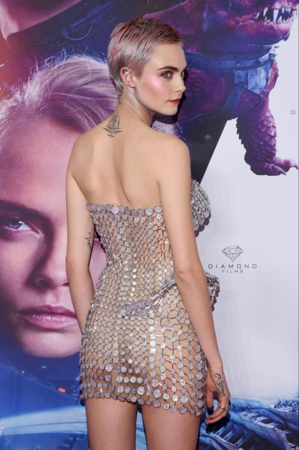 Cara Delevingne Wears See Through Dress To Movie Premiere In Mexico (4 pics)