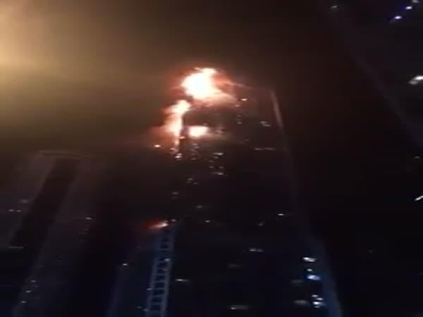 Dubai Skyscraper on Fire