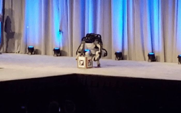 Robot Falls After Demo At Congress Of Future Scientists And Technologists (3 gifs)