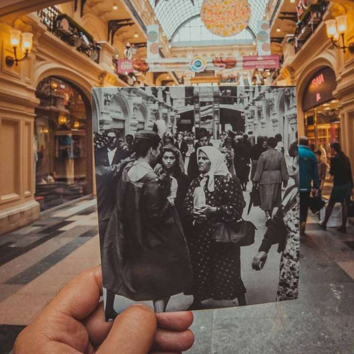 Person Matches Vintage Photographs With Modern Locations (11 pics)