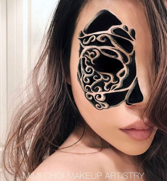 Talented Woman Creates Optical Illusions Using Makeup (30 pics)