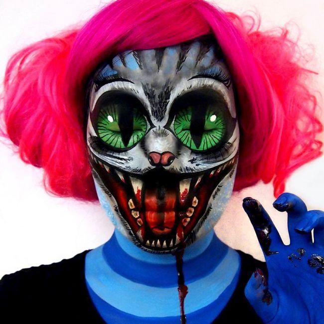 Talented Woman Creates Optical Illusions Using Makeup (30 pics)