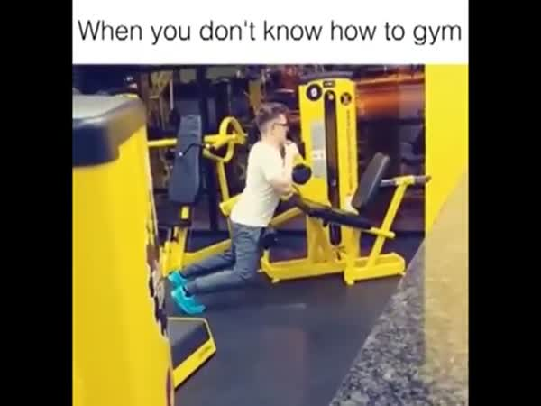 Humping Dude Has No Idea How To Use Gym Equipment