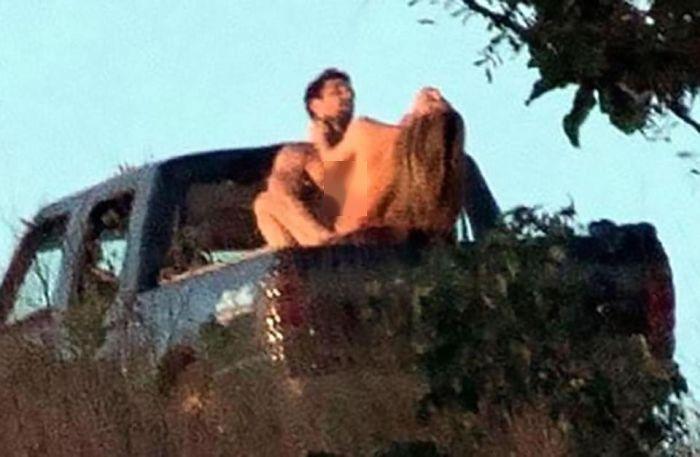 Grazielli Massafera Caught Having Public Sex With A Total Stranger In A Truck (3 pics)