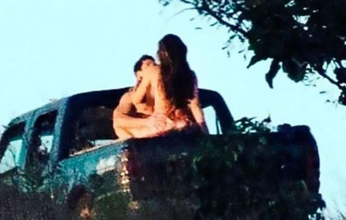 Grazielli Massafera Caught Having Public Sex With A Total Stranger In A Truck (3 pics)