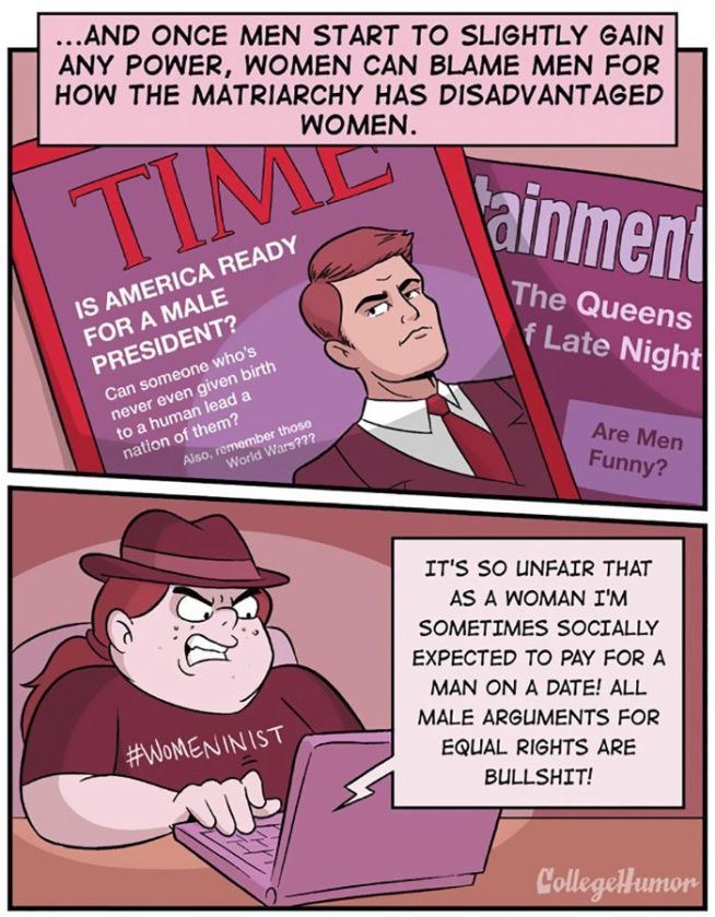 The Differences Between Gender Equality And Extreme Feminism (5 pics)