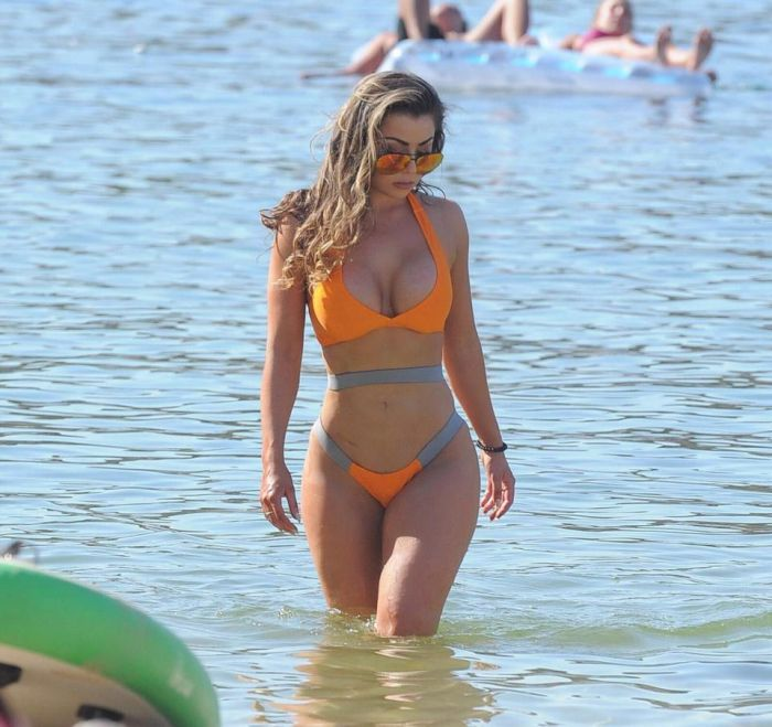 Towie Star Abigail Clark Shows Off Bum Lift On The Beach (8 pics)