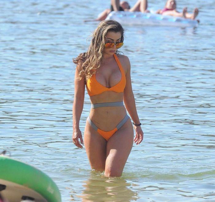 Towie Star Abigail Clark Shows Off Bum Lift On The Beach (8 pics)