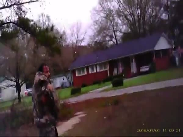 Horrifying Bodycam Footage Shows Moment Cop Is Shot At Point-Blank Range