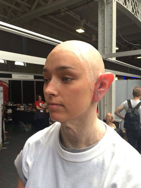 Makeup Artist Neill Gorton Turns Young Girl Into Old Punk (9 pics)