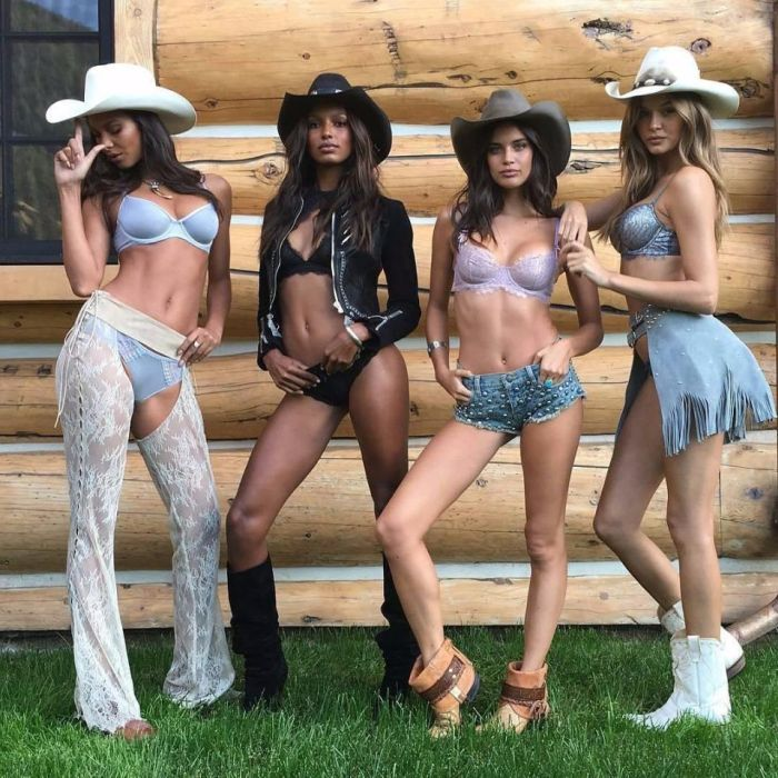 Victoria's Secret Models Pose In Chaps For Sexy Shoot (12 pics)