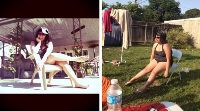 Pictures That Capture The Difference Between Instagram And Real Life (19 pics)