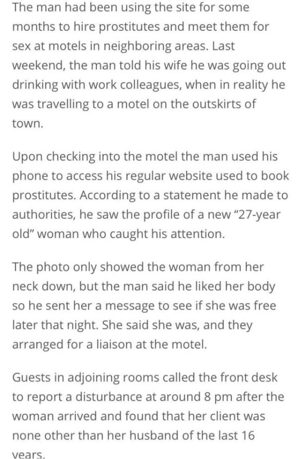 Man Gets Big Surprise When He Meets With A Prostitute In A Motel (3 pics)