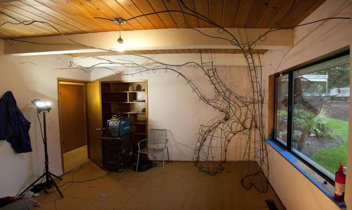 Young Girl's Dad Builds Her An Incredible Bedroom (50 pics)