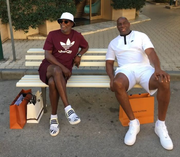 Magic Johnson And Samuel L Jackson Spotted In Italy (3 pics)