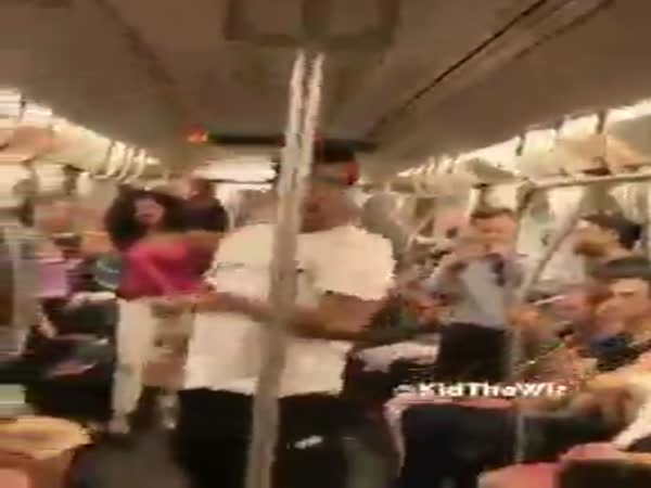 Subway Acrobats Show Off Skills
