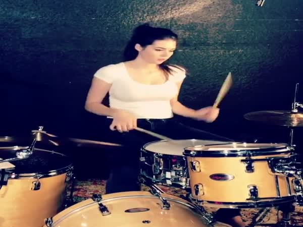 Is She Good With Drums Or Is She Just Super-Cute?