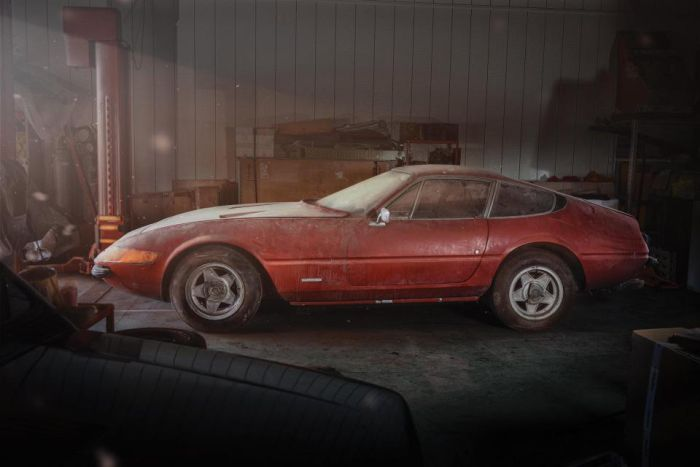 Filthy Ferrari Found In A Japanese Barn Will Sell For Big Money (6 pics)