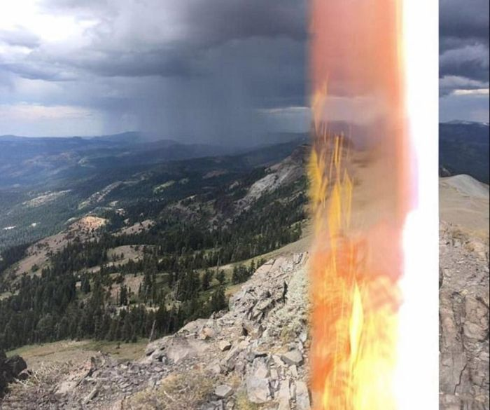Hiker Miraculously Survives Getting Struck By Lightning (3 pics)