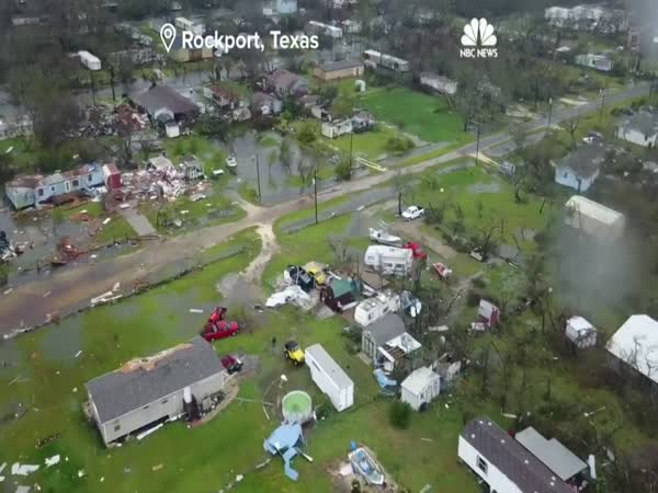 Drone Captures The Destruction Of Hurricane Harvey