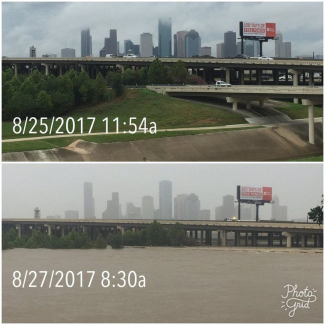 Before And After Photos Show Aftermath Of Houston Flood (6 pics)