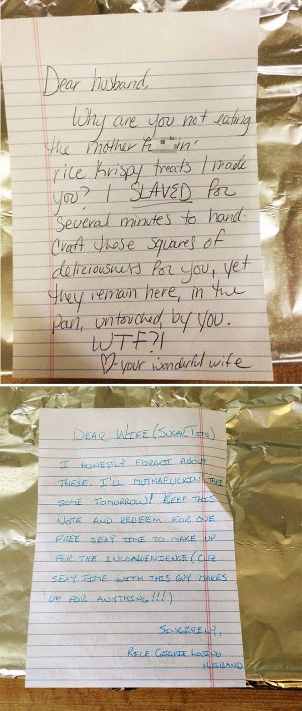 Funny Notes That Prove Love Is Real (21 pics)