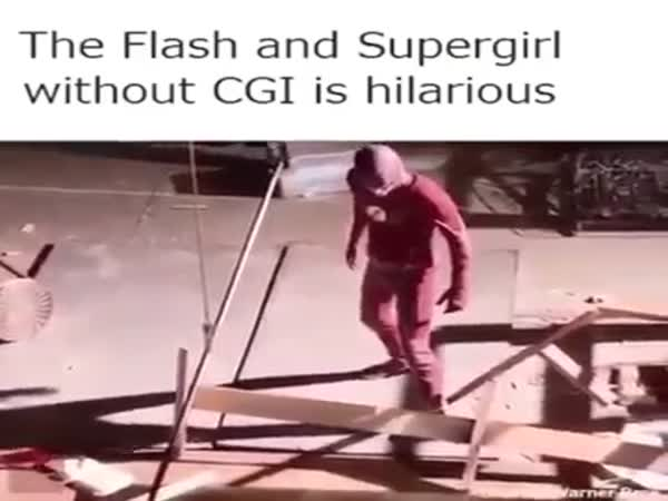 Flash And Supergirl Without CGI