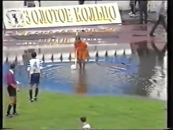 Soccer Ball Floating In The Corner