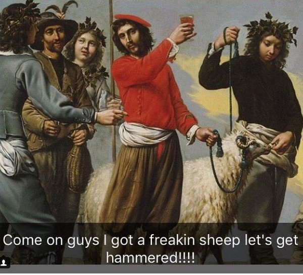 Paintings With Funny Captions (21 pics)