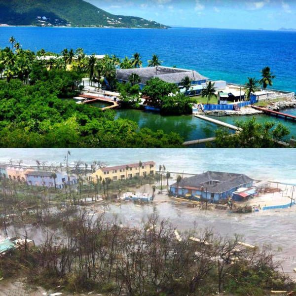 Before And After Photos of Hurricane Irma's Destruction (16 pics)