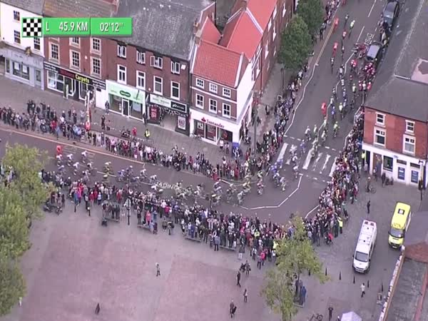 Parked Car Leads to Mass Crash at Tour of Britain Cycle Race