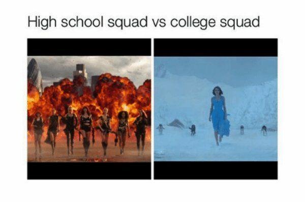 High School vs. College (17 pics)